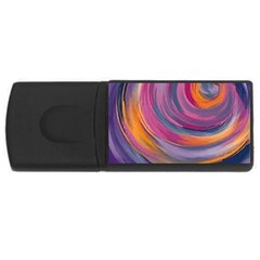 Purple Circles Swirls Rectangular Usb Flash Drive