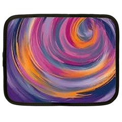 Purple Circles Swirls Netbook Case (large)