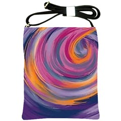 Purple Circles Swirls Shoulder Sling Bags