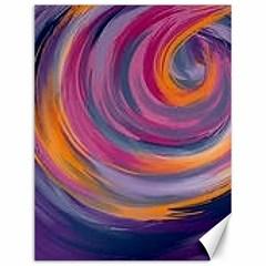 Purple Circles Swirls Canvas 12  X 16