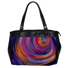 Purple Circles Swirls Office Handbags
