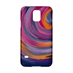 Purple Circles Swirls Samsung Galaxy S5 Hardshell Case
