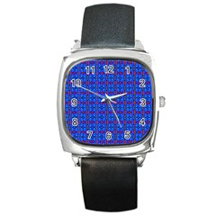 D 6 Square Metal Watch
