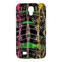 Pink Green Paint Battle And Black Lightning  Zigzag Samsung Galaxy Mega 6 3  I9200 Hardshell Case by flipstylezdes