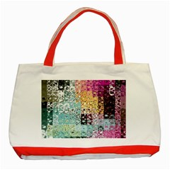 Abstract Butterfly By Flipstylez Designs Classic Tote Bag (red)