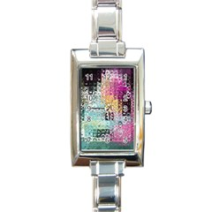 Abstract Butterfly By Flipstylez Designs Rectangle Italian Charm Watch