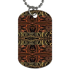 Brown And Gold Aztec Design  Dog Tag (two Sides)