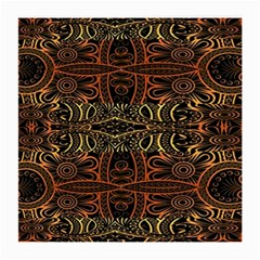 Brown And Gold Aztec Design  Medium Glasses Cloth (2 Side)