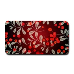 Beautiful Black And Red Florals  Medium Bar Mats