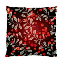 Beautiful Black And Red Florals  Standard Cushion Case (one Side)