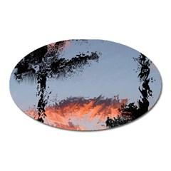 Beautiful Tropics Painting By Kiekie Strickland  Oval Magnet