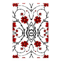 Beautiful Red Flowers Seamless Shower Curtain 48  X 72  (small)