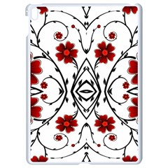 Beautiful Red Flowers Seamless Apple Ipad Pro 9 7   White Seamless Case by flipstylezdes