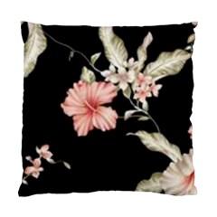 Beautiful Tropical Black Pink Florals  Standard Cushion Case (two Sides)