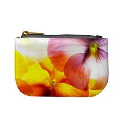 Big Colorful Tropical Yellow And Purple  Mini Coin Purses