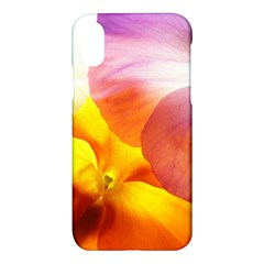 Big Colorful Tropical Yellow And Purple  Apple Iphone X Hardshell Case