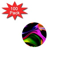 Colorful Smoke Explosion 1  Mini Magnets (100 Pack)