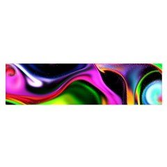 Colorful Smoke Explosion Satin Scarf (oblong)