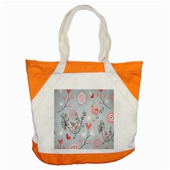 Cute Love Birds Valentines Day Theme  Accent Tote Bag