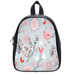 Cute Love Birds Valentines Day Theme  School Bag (small) by flipstylezdes