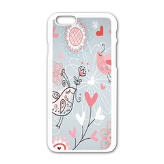 Cute Love Birds Valentines Day Theme  Apple Iphone 6/6s White Enamel Case by flipstylezdes