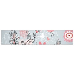 Cute Love Birds Valentines Day Theme  Small Flano Scarf by flipstylezdes