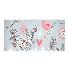 Cute Love Birds Valentines Day Theme  Satin Wrap