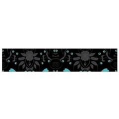 Blue Green Back Ground Floral Pattern Small Flano Scarf by flipstylezdes