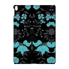 Blue Green Back Ground Floral Pattern Apple Ipad Pro 10 5   Hardshell Case