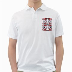 Creative Geometric Red And Black Design Golf Shirts