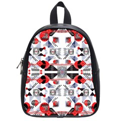 Creative Geometric Red And Black Design School Bag (small)