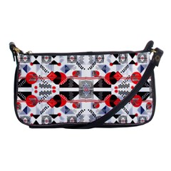 Creative Geometric Red And Black Design Shoulder Clutch Bags by flipstylezdes