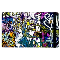 Graffiti Wall Cartoon Style Art Apple Ipad 3/4 Flip Case by flipstylezdes