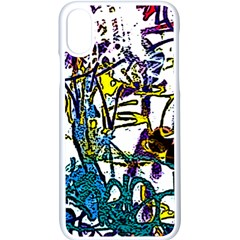 Graffiti Wall Cartoon Style Art Apple Iphone X Seamless Case (white)
