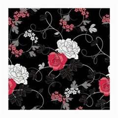 Elegant Pink Roses Medium Glasses Cloth (2 Side)
