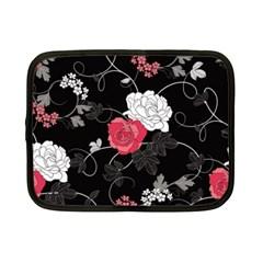 Elegant Pink Roses Netbook Case (small)