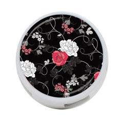 Elegant Pink Roses 4 Port Usb Hub (one Side)