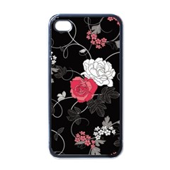 Elegant Pink Roses Apple Iphone 4 Case (black)