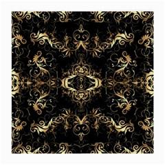 Golden Florals Pattern  Medium Glasses Cloth