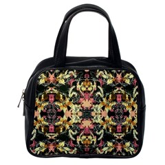 Beautiful Seamless Brown Tropical Flower Design  Classic Handbags (one Side) by flipstylezdes