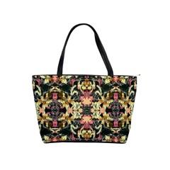 Beautiful Seamless Brown Tropical Flower Design  Shoulder Handbags