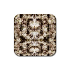 Gorgeous Brown Rustic Design By Kiekie Strickland Rubber Square Coaster (4 Pack)