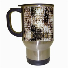 Gorgeous Brown Rustic Design By Kiekie Strickland Travel Mugs (white)