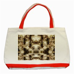 Gorgeous Brown Rustic Design By Kiekie Strickland Classic Tote Bag (red)