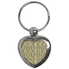 Stripes Glitter And Black Zigzags Key Chains (heart)