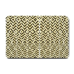 Stripes Glitter And Black Zigzags Small Doormat