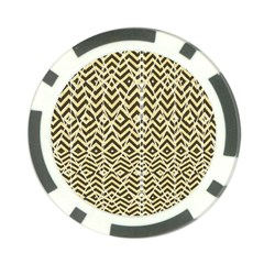 Stripes Glitter And Black Zigzags Poker Chip Card Guard (10 Pack)