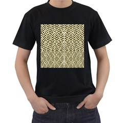 Stripes Glitter And Black Zigzags Men s T Shirt (black)