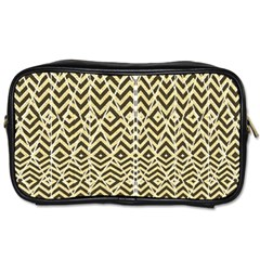 Stripes Glitter And Black Zigzags Toiletries Bags 2 Side