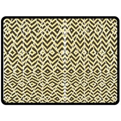 Stripes Glitter And Black Zigzags Fleece Blanket (large)
